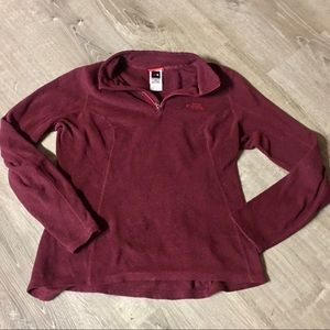 North Face Maroon Fleece Sweater Size Med